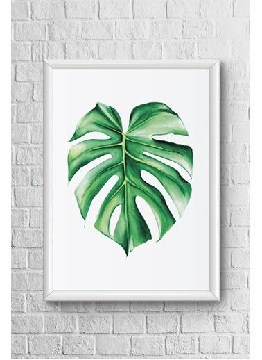 Lyn Home & Decor Tek Yaprak Çerçeveli Poster Tablo 17,5X23,5 Beyaz